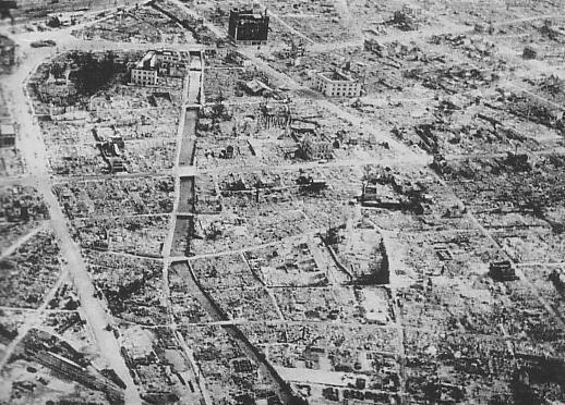 空襲後の浜松市