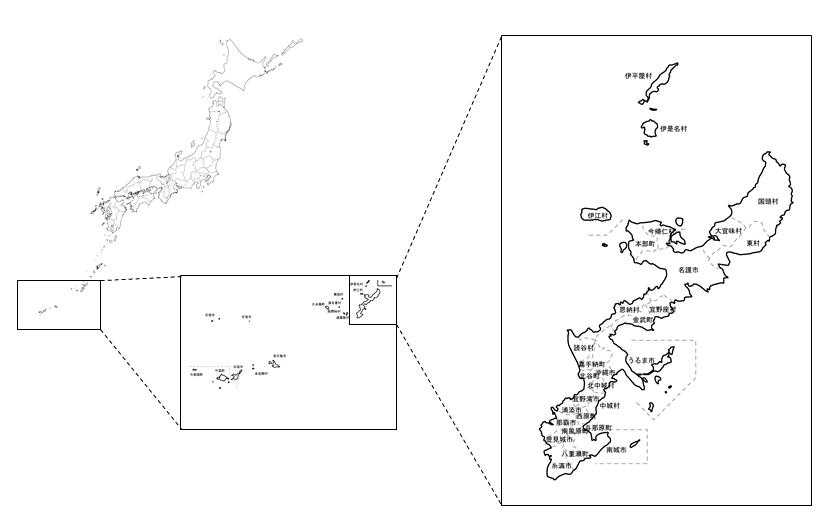 沖縄の位置