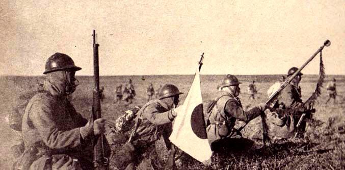 満州事変で進軍する日本陸軍