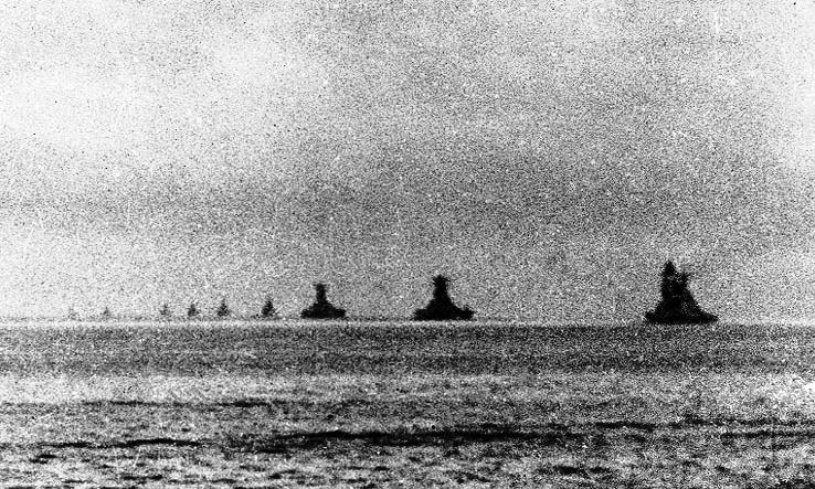 ブルネイ湾を出港しレイテ湾へ向かう栗田艦隊