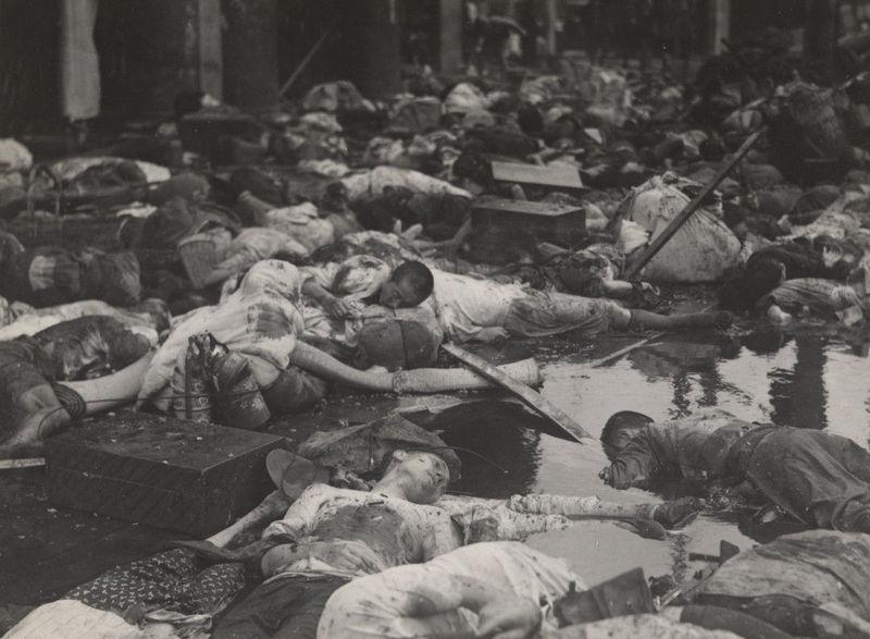 第二次上海事変 中国軍機の爆撃による民間人被害者