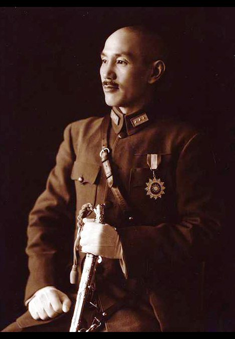 軍装の蒋介石(1940年)