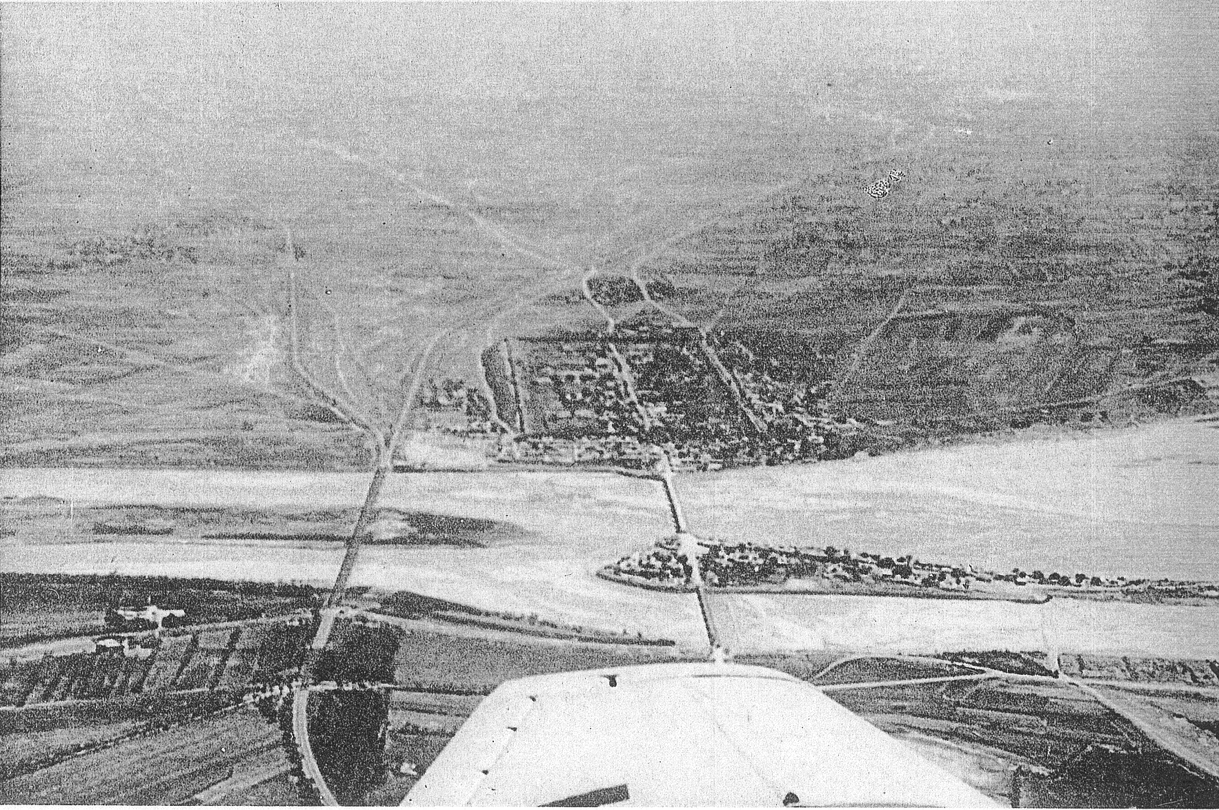上空から見た盧溝橋