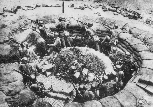 中華民国国民革命軍の機関銃陣地